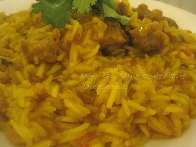 moroccan rice moroccan cuisine marocaine rouz matticha