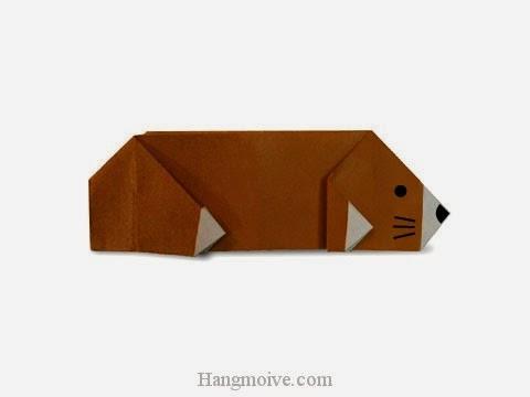 Cách gấp, xếp con chuột chũi bằng giấy origami - Video hướng dẫn xếp hình - How to make a Mole