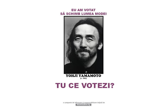 the art student vote campaign university of arts iasi art students initiatives yohji yamamoto