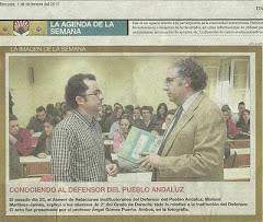 En clase con el asesor del Defensor del Pueblo Andaluz