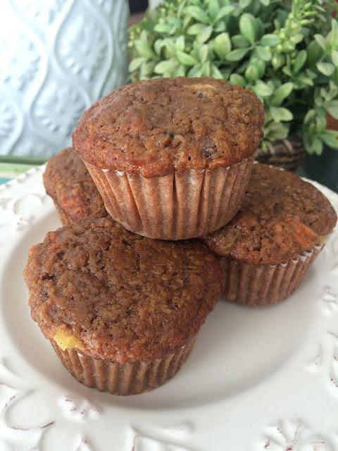 muffins, healthy muffins, morning glory muffins, bran muffins, Deals to Meals recipe, Recipe:  Snack, Recipe:  Bread,