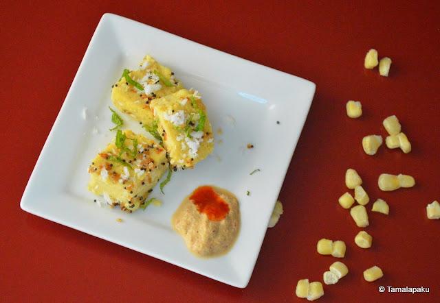 Corn Flour Dhokla