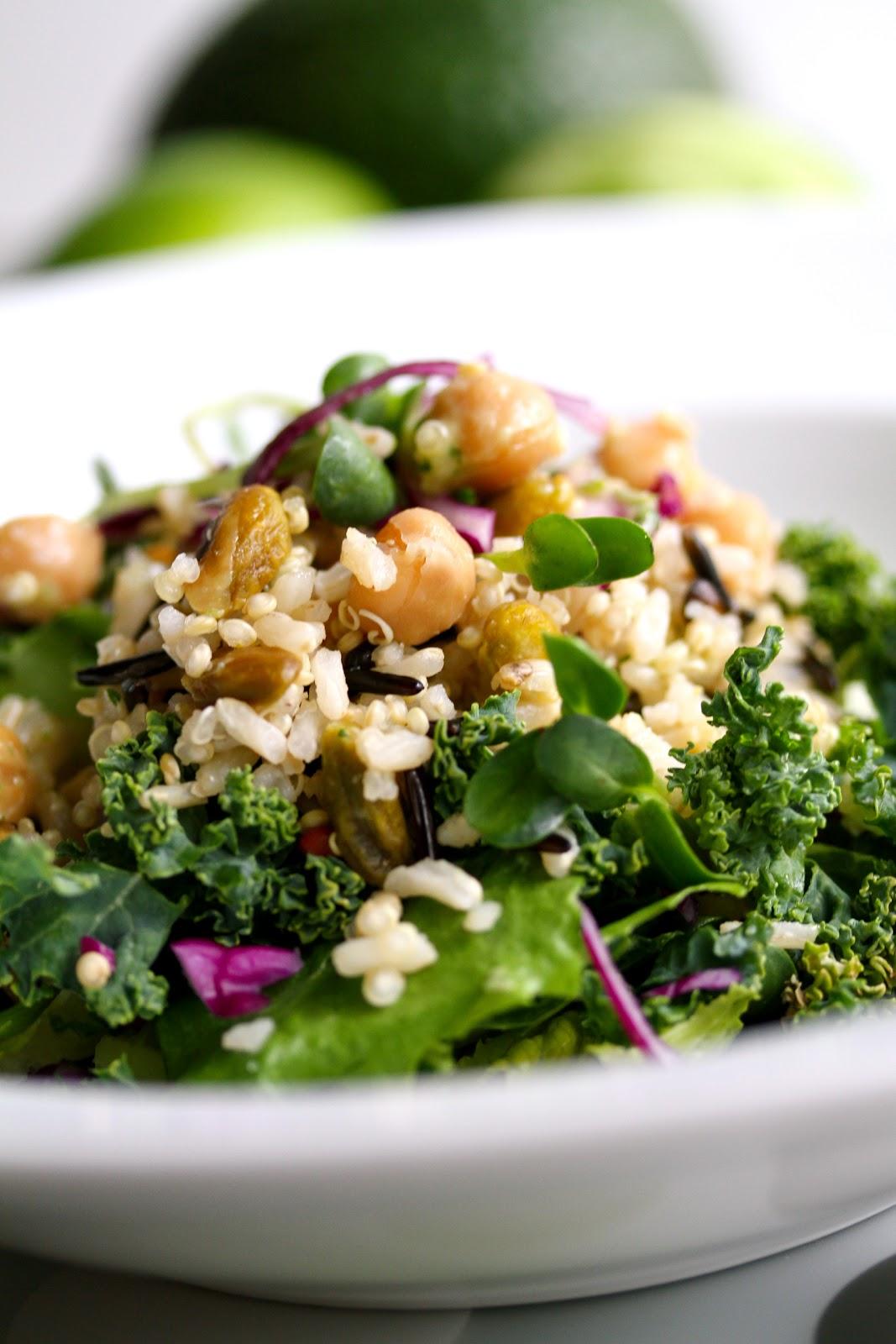 Power Salad with Agave-Lime Cilantro Vinaigrette