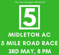 Big 5 mile race in E.Cork...Thurs 3rd May 2018