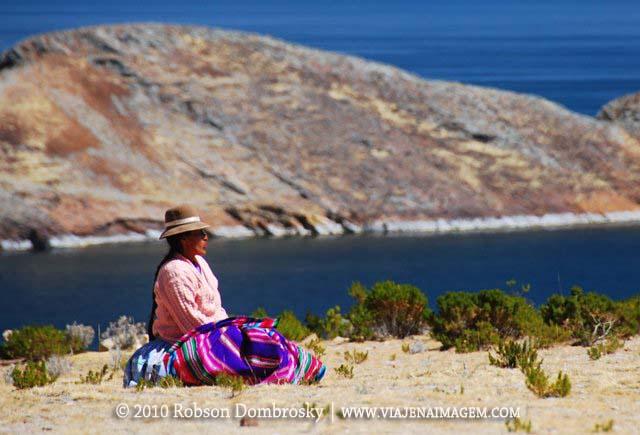 mulher inca na ilha do sol