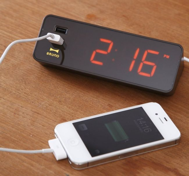 LED Alarm Clock will Charge your Phone at Night