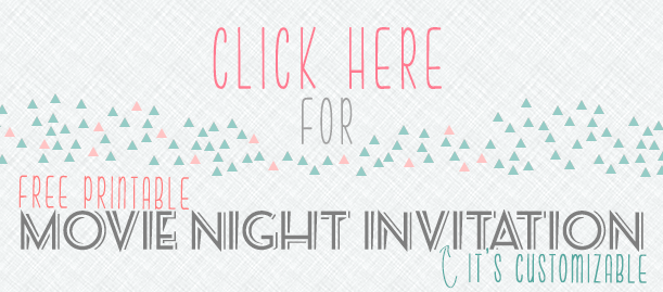 Customizable Movie Night Invitations | www.blackandwhiteobsession.com