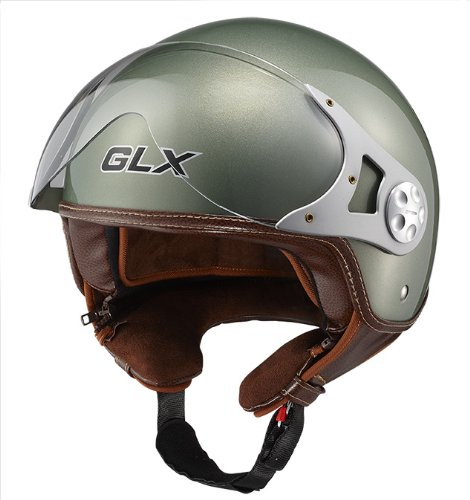 GLX Copter Style Motorcycle Helmet | Open Face Motorcycle Helmet | GLX Helmets | Motorcycle Helmets