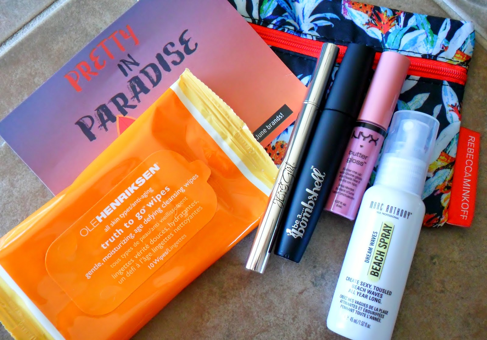"June 2014 Ipsy ""Pretty in Paradise"" Glam Bag"