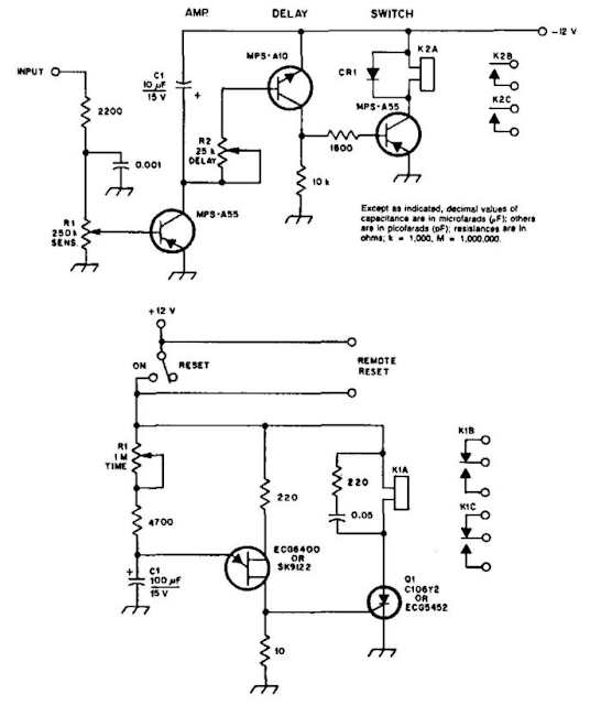 Build a Carrier Operated Relay Wiring diagram Schematic Panel