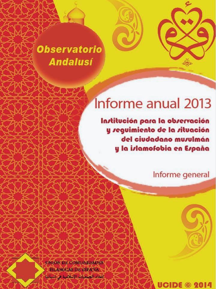 Informe anual de 2013 del observatorio andalusí
