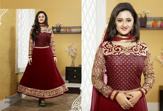 Rashmi Desai Neck Embroidered Long Anarkali Suit
