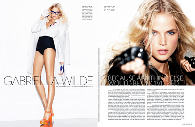 Gabriella Wilde by Ben Watts for Flaunt Magazine