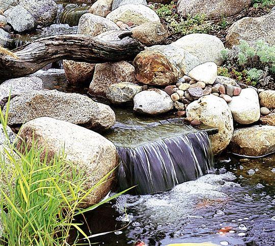 Il giardino delle naiadi utilizzare la terra di riporto for Cascate laghetti da giardino