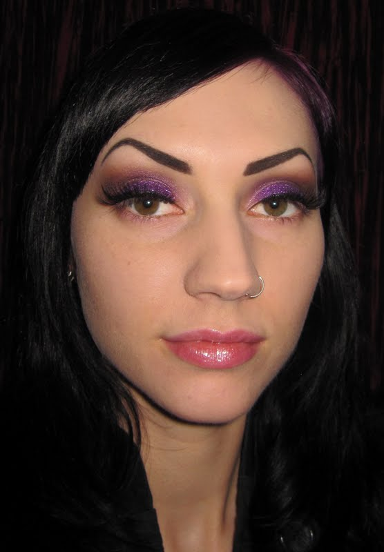 ... is my crack...: Smokey Purple Glitter Makeup Look with Coastal Scents