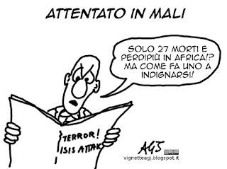 Mali, isis, attentati, terrorismo, europa, vignetta satira