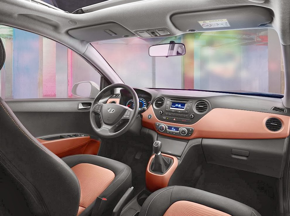 Hyundai i10 detaliu bord