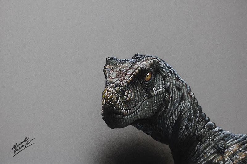 A Velociraptor Drawing Marcello Barenghi