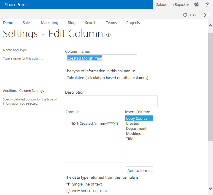 create calculated column in sharepoint 2013 using powershell