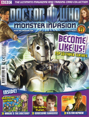 ... on this fortnight's edition of Doctor Who Monster Invasion magazine