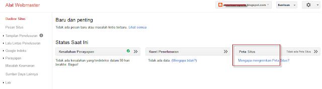 Cara Setting Sitemap di Google Webmaster