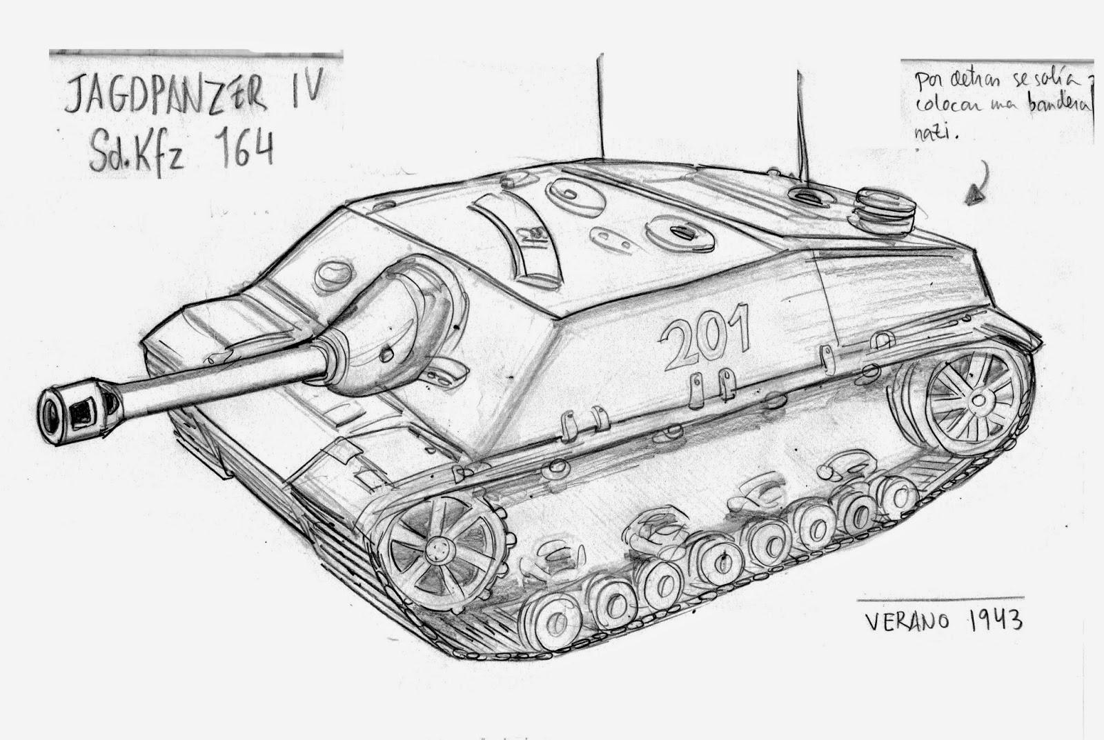 Excepcional Tanque Militar Para Colorear Viñeta - Dibujos Para ...