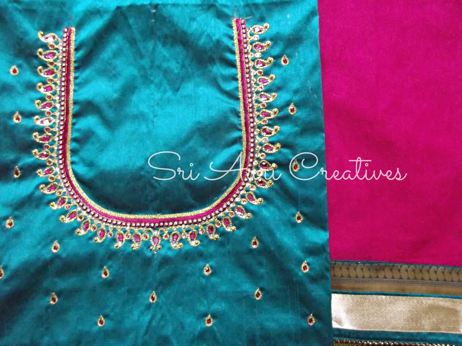 Sri aari creatives embroidery bridal blouse designs