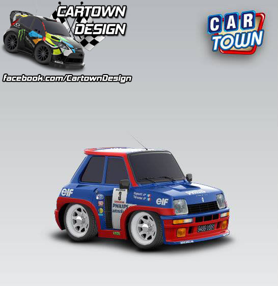 renault 5 turbo 1980 jean ragnotti cartown templates and skins at cartown design. Black Bedroom Furniture Sets. Home Design Ideas