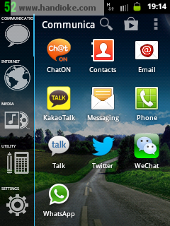 menu tab smart launcher