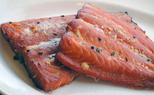 Best Wood Chips Smoking Salmon : Smoked over wine soaked wood chips in a weston smoker as it s basted
