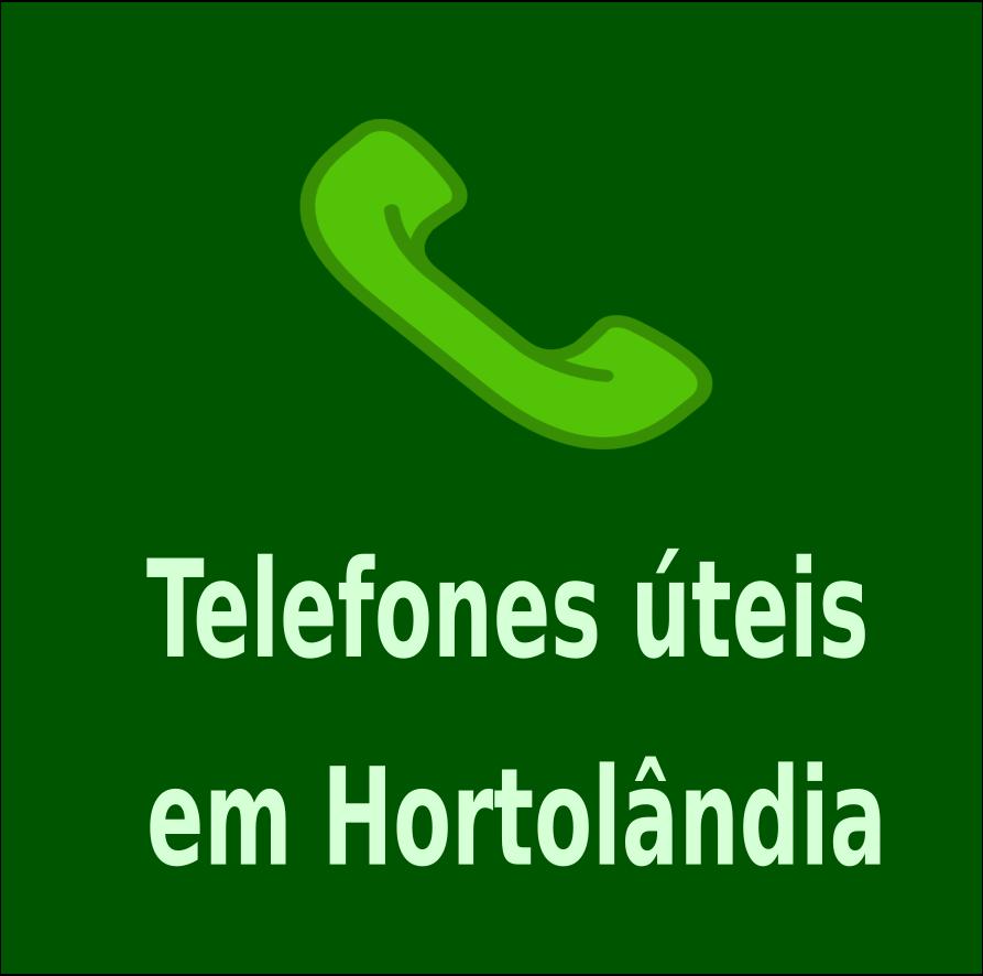 TELEFONES ÚTEIS EM HORTOLÂNDIA