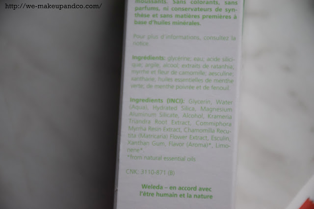 dentifrice bio weleda lavera toothpaste organic