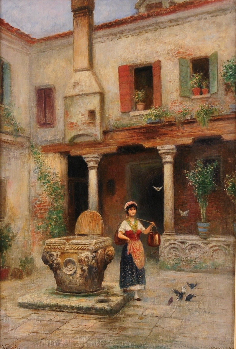 Frans Wilhelm Odelmark 1849-1937 | Swedish painter | Venedig