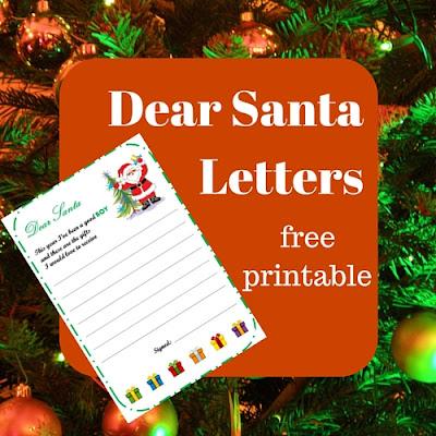 dear santa letters - free printable
