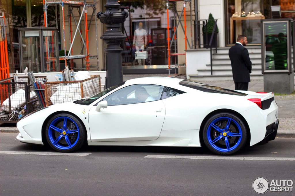 zero 2 turbo ferrari 458 speciale painted in grigio silverstone w blue and white - Ferrari 458 Blue And White