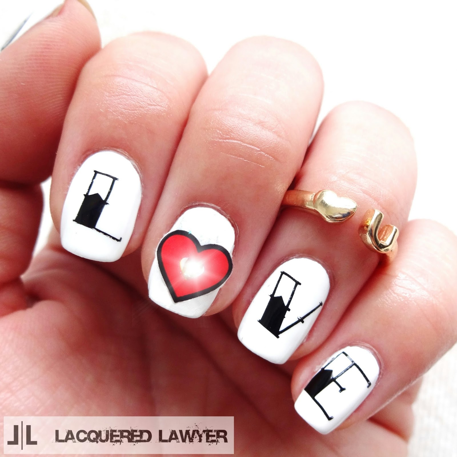 Beating Heart Nail Art