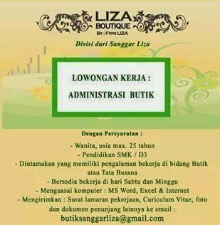 Lowongan Kerja Liza Boutique Tebet Ibukota Jakarta