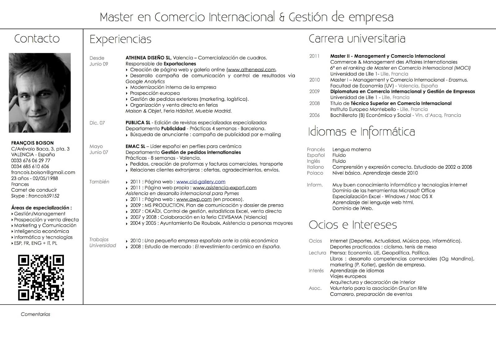 Curriculum | Diario de un promotor