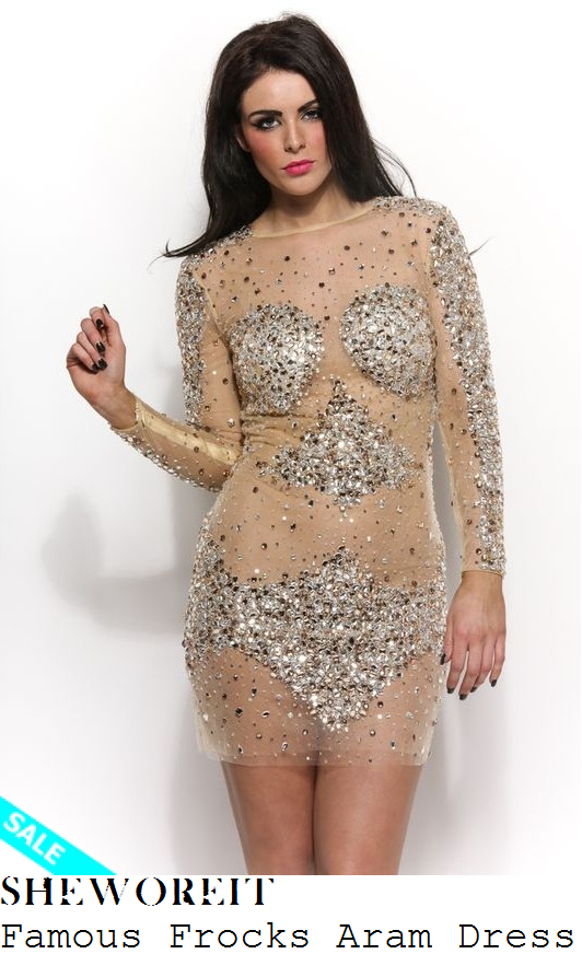 vickypattison-sheer-nude-mesh-long-sleeve-crystal-gem-embellished-min-dress-nye