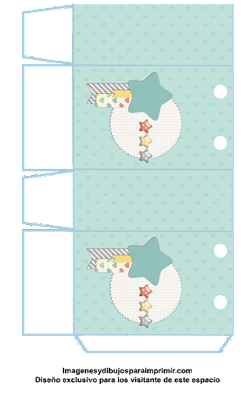 Bolsas para imprimir de baby shower