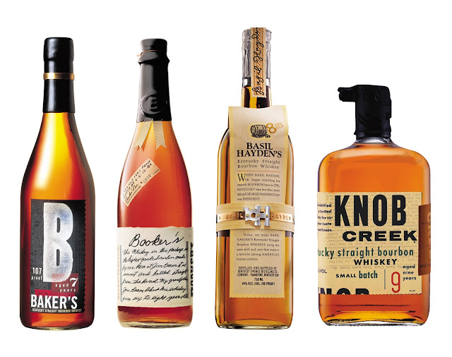 jim beam small batch bourbon collection, small batch whiskey collection, jim beam whiskey, knob cheek whiskey, small batch bourbon, basil hayden whiskey, baker's whiskey bourbon, booker's whiskey bourbon, whiskey bottle