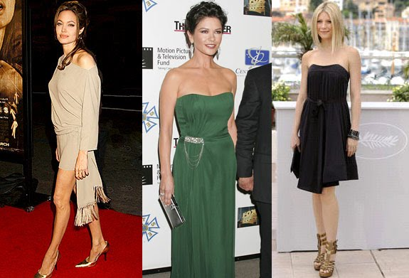 Rectangle body shape celebrities