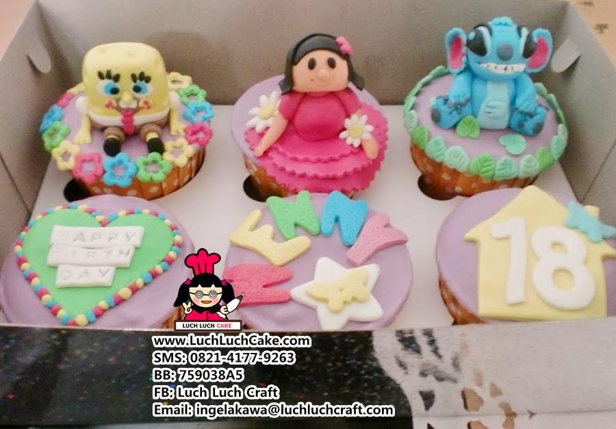 Cupcake Spongebob Daerah Surabaya - Surabaya