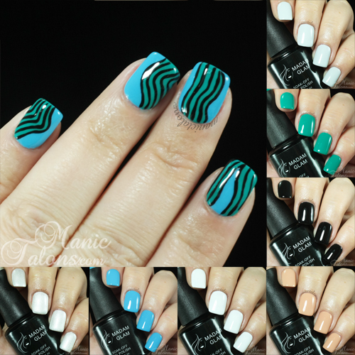 Madam Glam Gel Polish Swatches and Nail Art