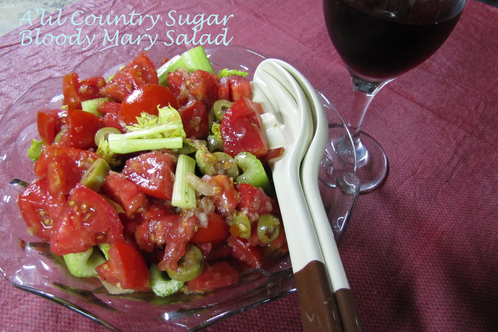 A'lil Country Sugar: ASAP!! Bloody Mary Salad
