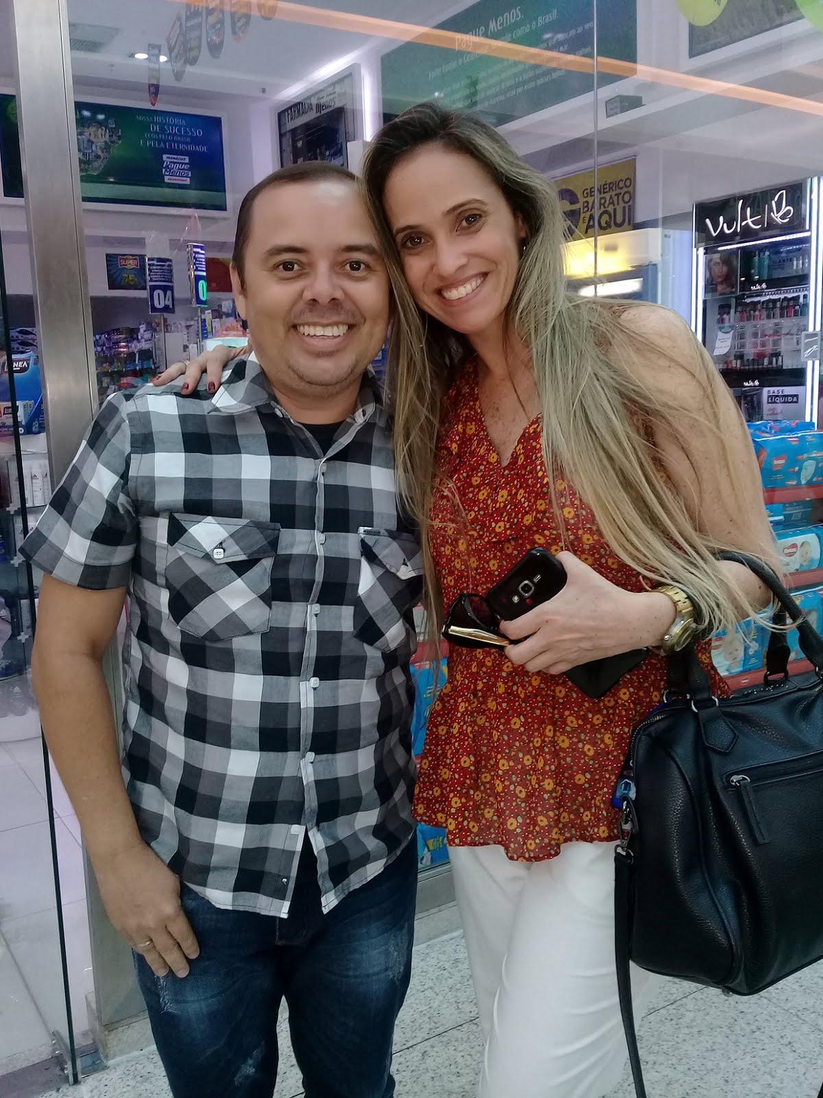 Com a Priscilla Couto (Catuxita) do Xou da Xuxa