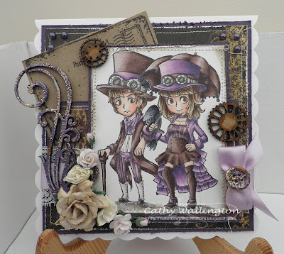visible image stamps vintage steampunk character stamp