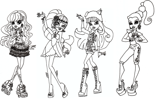 Monster High 13 Wishes Coloring Pages   Monster High Coloring Pages