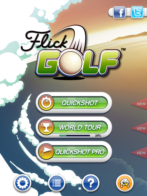 Flick Golf! Free App Game By Full Fat