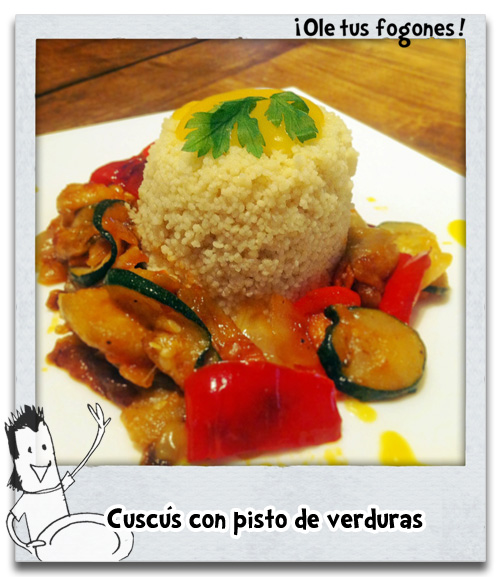 Cuscús con pisto de verduras